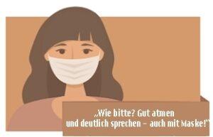 """Kostenfreier Erlebnisabend im Live- Stream: """"Wie bitte? Gut atmen und deutlich sprechen – auch mit Maske!"""""""